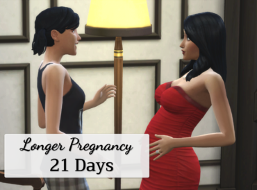 Longer pregnancy: 21 days