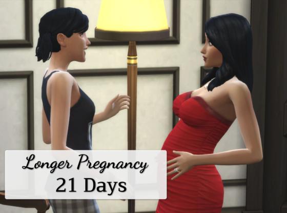 Longer pregnancy: 21 days
