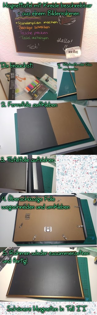 DIY: Magnetpinnwand mit Kreide beschreibbar