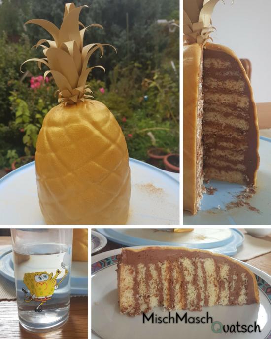 Rezept: Goldene Ananas Torte